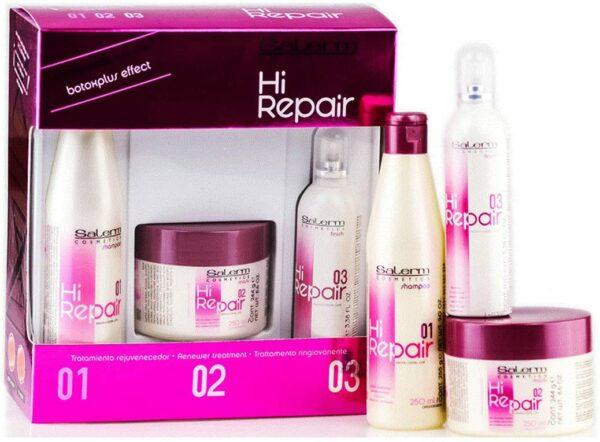 atamiento completo fortalece el cabello, Serum reparación. Mascarilla Hi Repair. Rejuvenece y repara tu cabello. Champú rejuvenece y repara